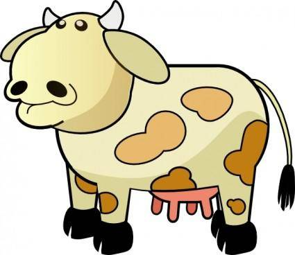 free vector Color Cow clip art