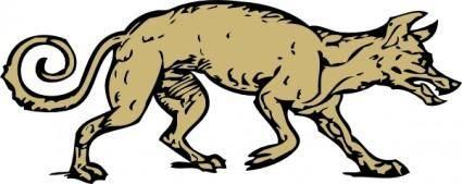 Mangy Dog clip art