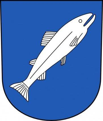 free vector Fish Wipp Rheinau Coat Of Arms clip art