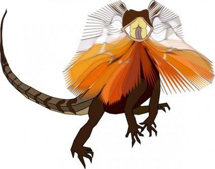 Necked Lizard Dragon clip art