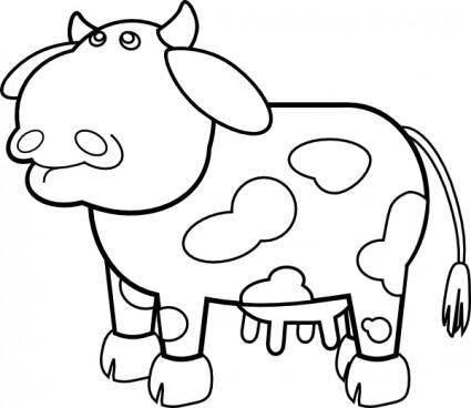 Cow Outline clip art