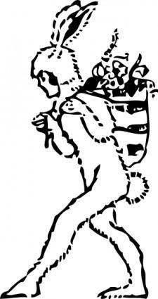 free vector Bunny Costume clip art