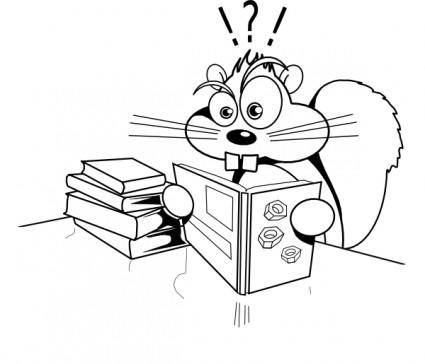 Squirreled clip art