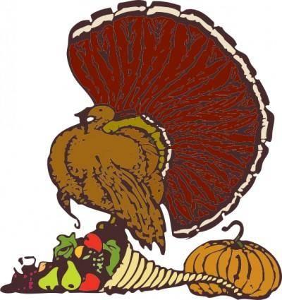 free vector Turkey And Harvest clip art