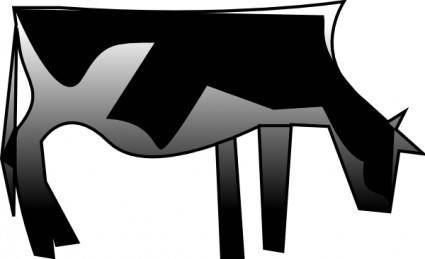 free vector Cow clip art