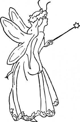 free vector Fairy Queen clip art