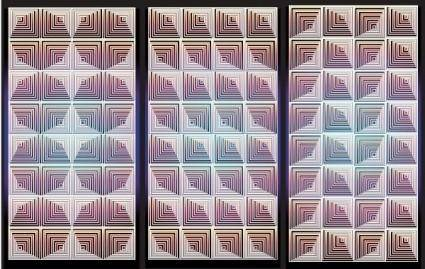 NixVex OpArt Tiles Free Vector