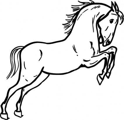 Jumping Horse Outline clip art