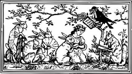 Rabbit And Bride clip art