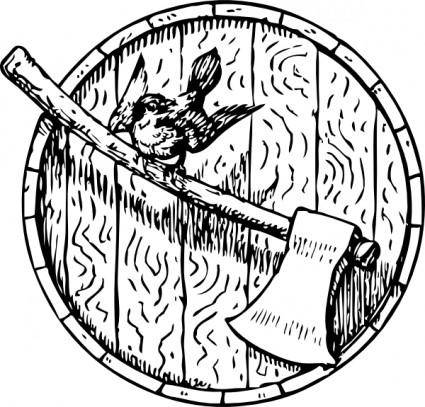Sparrow Axe Barrelhead clip art