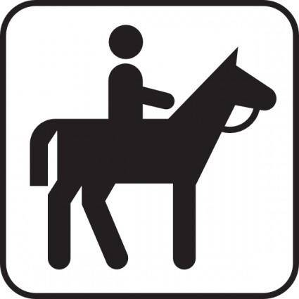 Horse Back Riding clip art