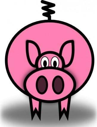 free vector Pink Pig clip art
