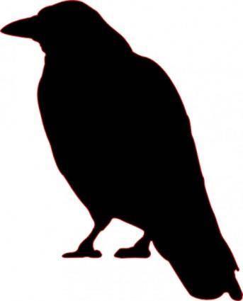 Crow Silhouette clip art