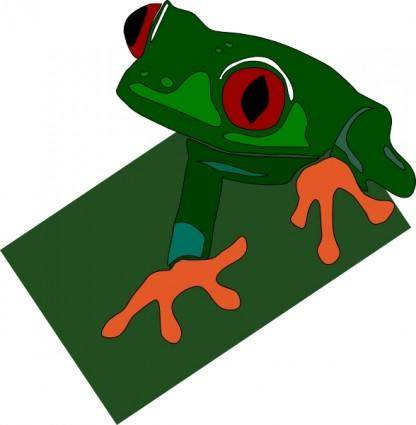 free vector Red Eyed Frog clip art