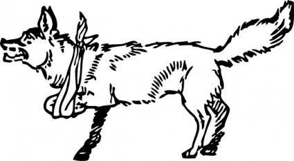 free vector Lame Fox clip art