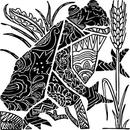 Ornate Frog clip art