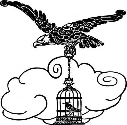 free vector Eagle And Nightingale clip art