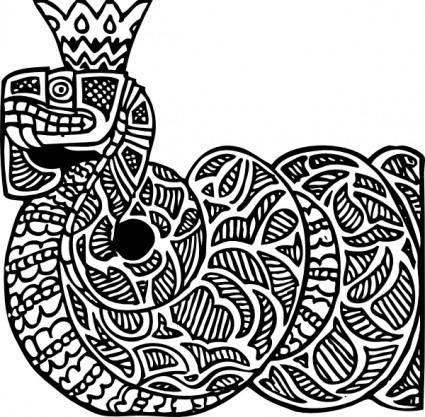 Snake King clip art