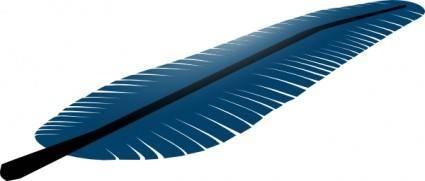 Blue Feather clip art