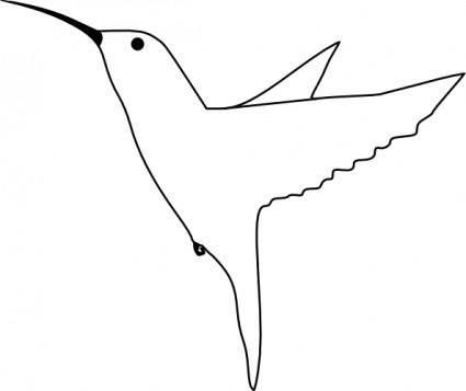 free vector Humming Bird clip art