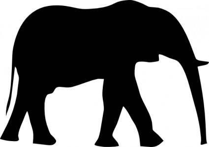 Elephant Silhouet clip art