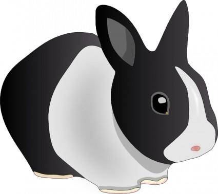 free vector Danko Friendly Rabbit clip art