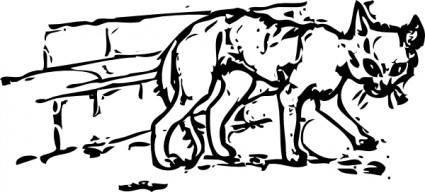 free vector Ugly Cat clip art