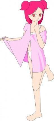 free vector Gopher Pink Anime Girl Beta clip art
