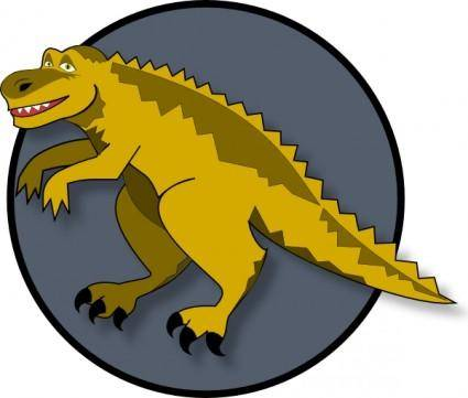A Cartoon Dinosaur clip art