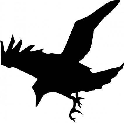 Raven Silhouette clip art