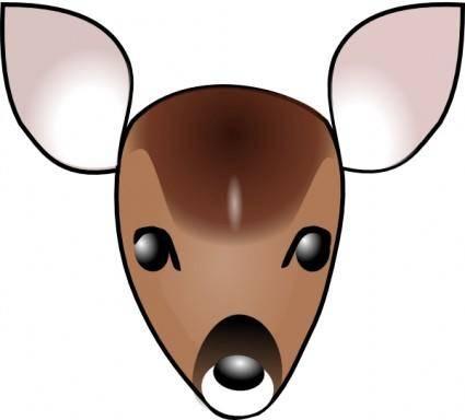 free vector Deer Head clip art