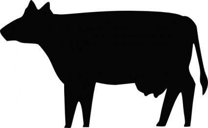 Cow Silhouette clip art