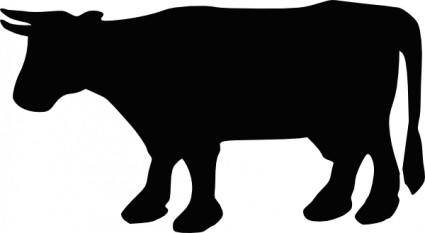 free vector Cow Silhouette clip art