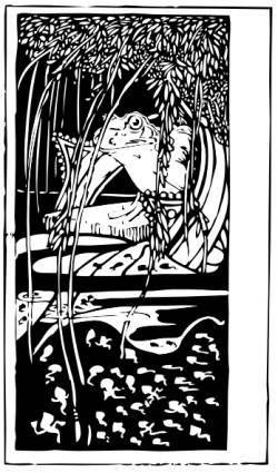 Frog King clip art