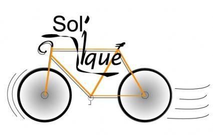 free vector Speeding Bicycle
