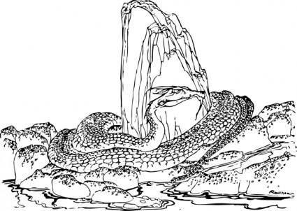Huge Snake clip art