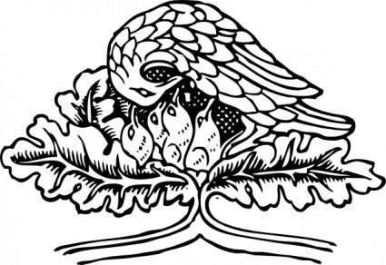 Bird And Chicks clip art