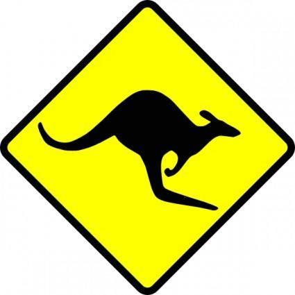 Caution Kangaroo clip art
