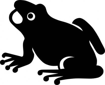 free vector Frog Silhouette clip art