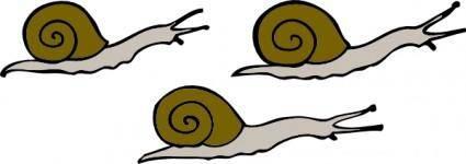 Snails clip art
