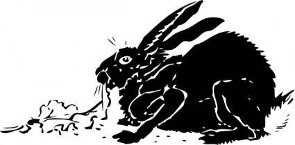 Black Rabbit clip art