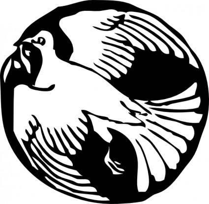 free vector Dove In Circle clip art