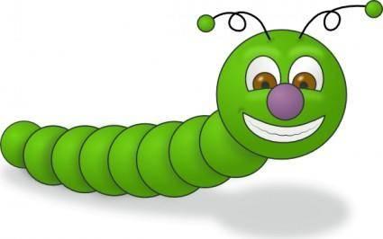 free vector Green Worm clip art
