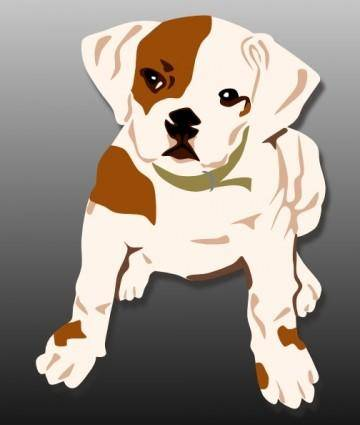 free vector Bulldog Puppy clip art