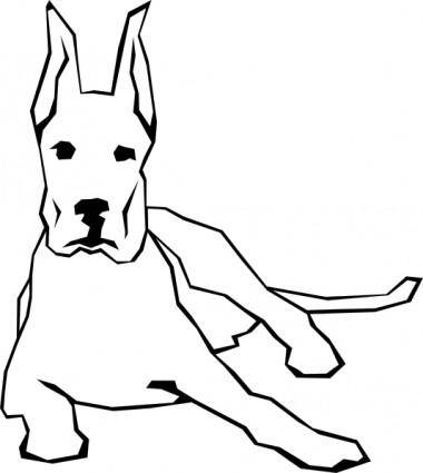 Dog Simple Drawing clip art
