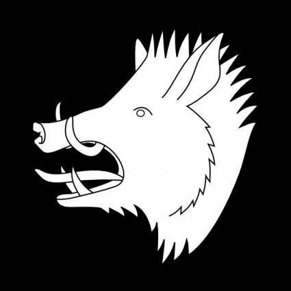 Boar's Head clip art