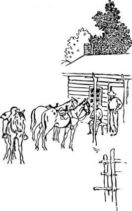 free vector Horse Camp clip art