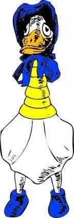 free vector Granny Goose clip art