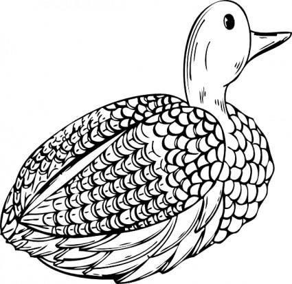 Duck Decoy clip art