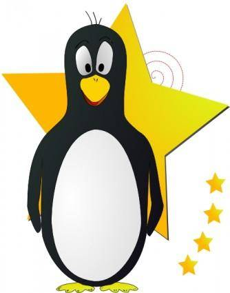 free vector Star Penguin clip art